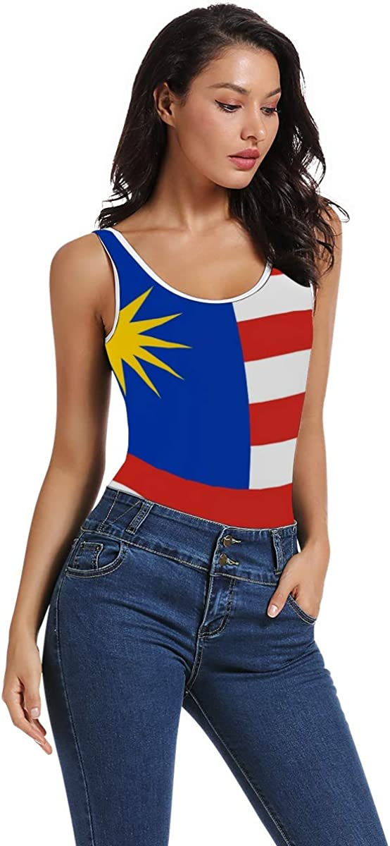 super3Dprinted Malaysia Flag Womens Bodysuit Jumpsuit