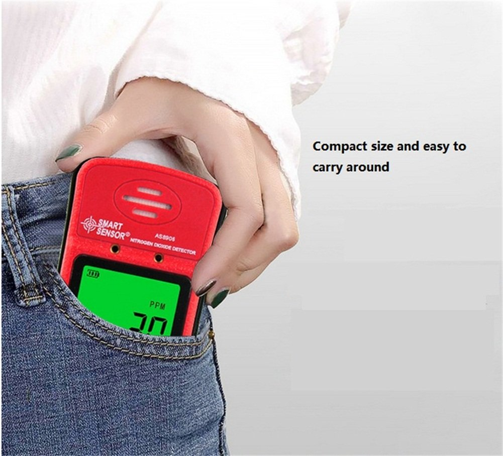 Handheld NO2 Gas Leak Detector 0-20PPM Portable LCD Display Rechargeable Li-Battery Powered Digital Nitrogen Dioxide Gas Monitor: Amazon.com: Industrial & ...