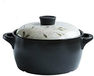 Professional Safe Cookware Ceramic Lid Casserole with Lid Healthy Cookware Pot Heat Resistant Clay Pot Suitable for Gas Cooker Ceramic Electric Cooker