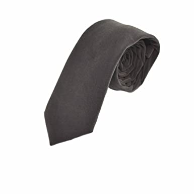 King & Priory Corbata Gris Plateado Oscuro de Terciopelo: Amazon ...