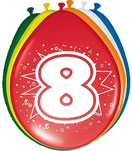 Folat 08208 - Globos de cumpleaños (8 unidades, 30 cm), varios colores