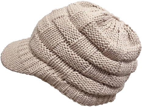 Shining-hat Gorros de Punto para Hombre Mujer Invierno Caliente ...