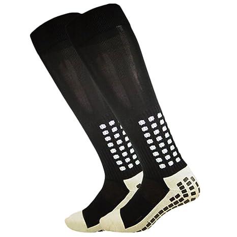 Calcetines de fútbol de calcetines antideslizantes, antideslizante, con botones de goma, en Trusox