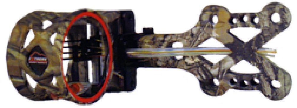 Extreme Archery EXR 750 Sight with 4 Pin .019 Rheostat Light