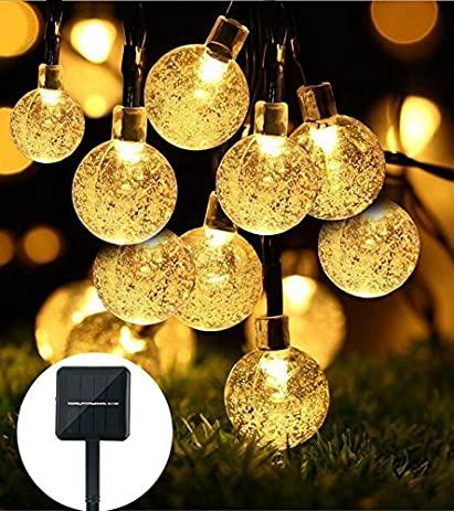string lights outdoor solar xmas tree decoration twinkle globe bubble crystal ball lighting for christmas tree