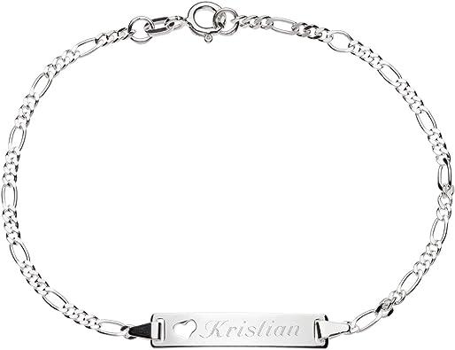 Schmuck Pur 925 Sterling Silber Damen Mädchen ID Armband