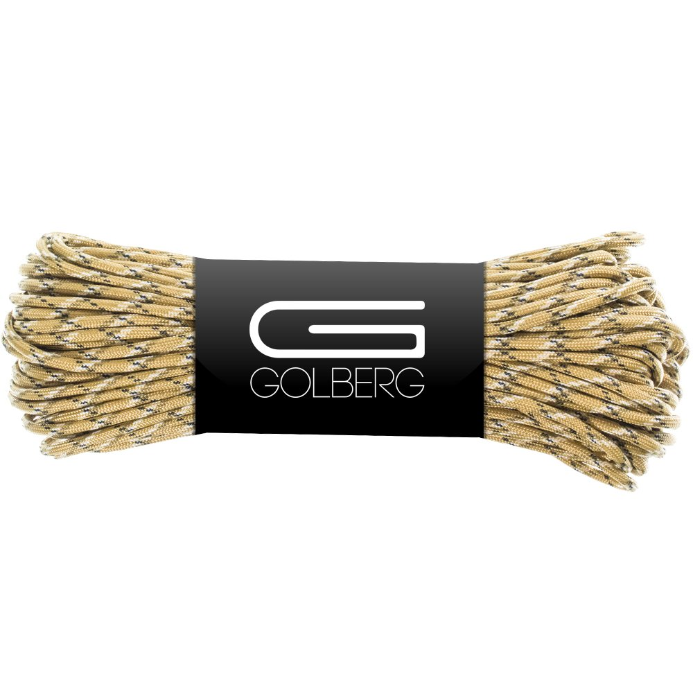 Golberg 850 Paracord - Stronger Than 550 and 750 - Made in The USA by Certified Government Contractors - (100 Feet, Desert Camo in Hank)