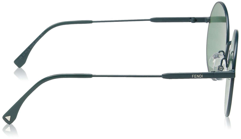 7acdc5abab59 Amazon.com  Fendi Women FF 0248 S 53 Green Green Sunglasses 53mm  Fendi   Clothing
