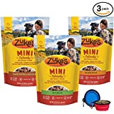 Zuke's Mini Natural Soft Treats - Variety 3 Pack for Dogs - 18 Total OZ (Duck,Peanut Butter & Chicken) W/Bonus Yow Pets Bowl