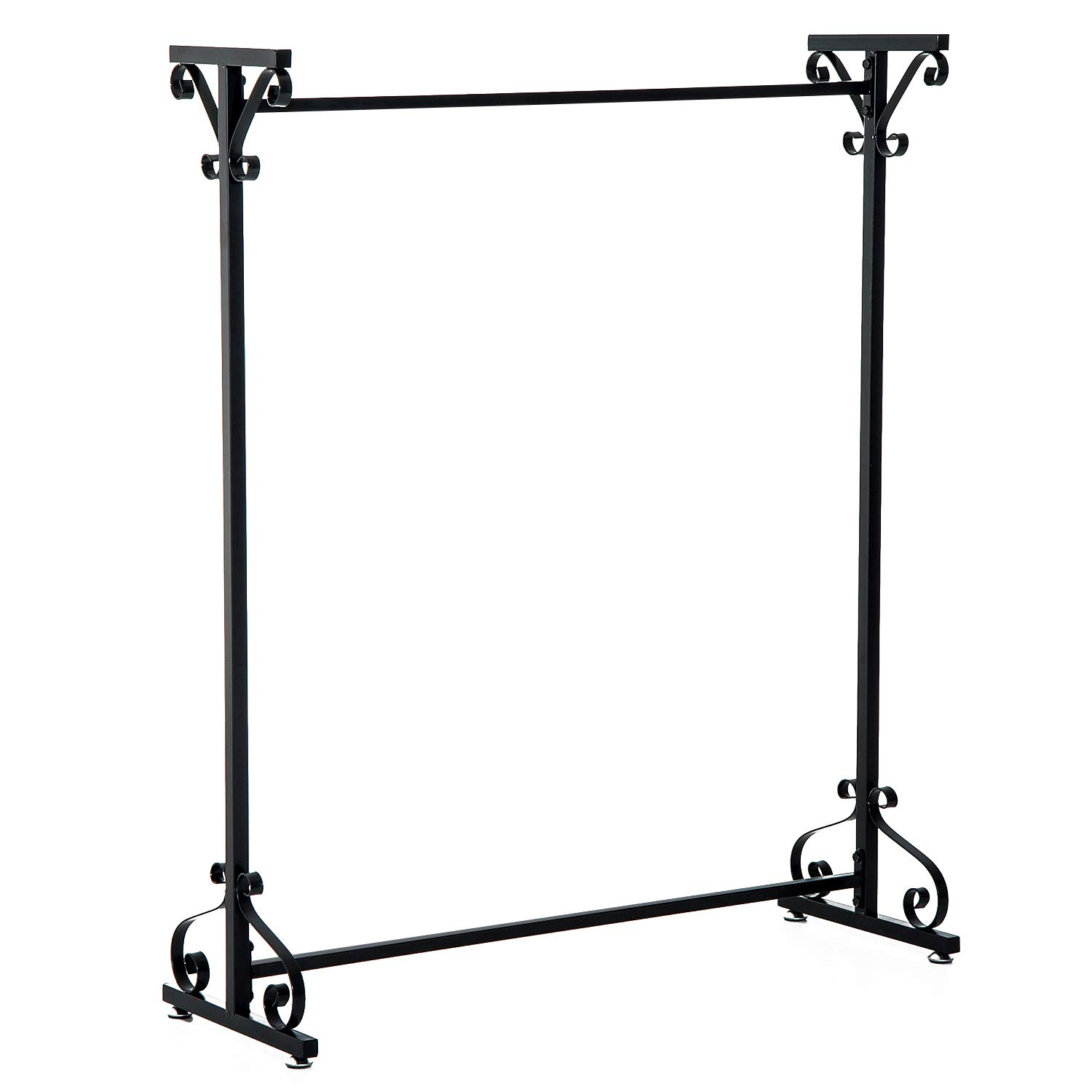 HOMCOM Hanger Metal Stand Rack Clothes Rail Storage Tidy Rail Bedroom Furniture Sold By MHSTAR