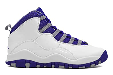 Nike Kids Jordan 10 Retro 487215 107 White Old Royal Stealth Basketball  Sneaker (kids 4 b70331b88278