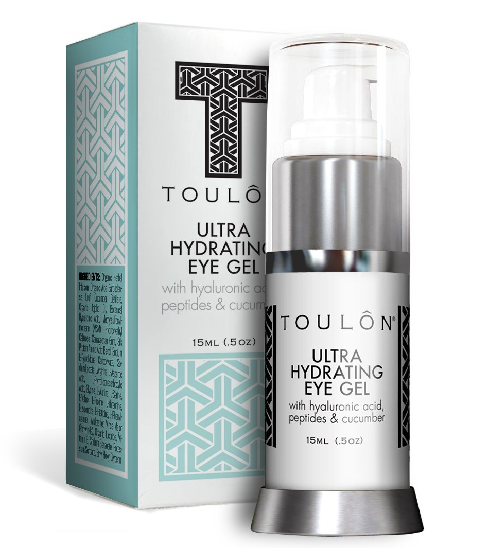 Best Eye Gel for Dark Circles and Puffiness. Reduce Wrinkles, Bags & Crows Feet. Natural & 100 Pure Firming Anti Aging Gel for Men and Women with Aloe Vera & Soothing Cucumber.,15ml (.5oz) TOULON