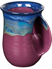 Clay in Motion Handwarmer Mug - Purple Passion - Right Handed,14 oz.