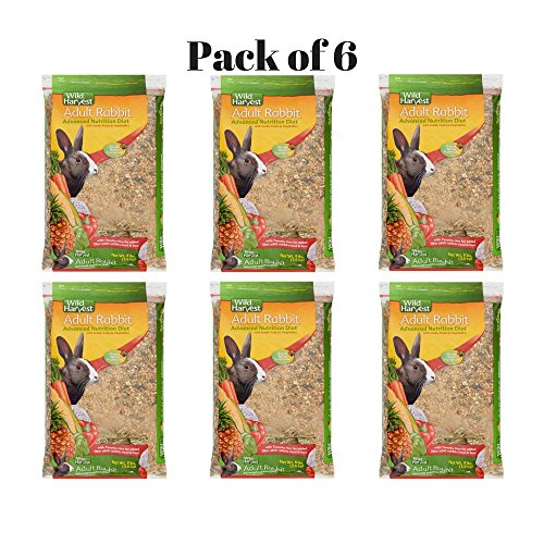Wild Harvest Rabbit 8lb This Rabbit Food Provides Essential Dietary Variety, Great Taste And Balanced Nutrition. Pack of 6 by Wild Harvest