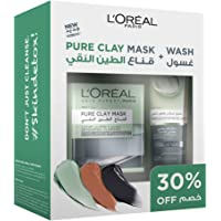 L'Oréal Paris Pure Clay Black Mask + Wash - Charcoal, Detoxifies & Clarifies