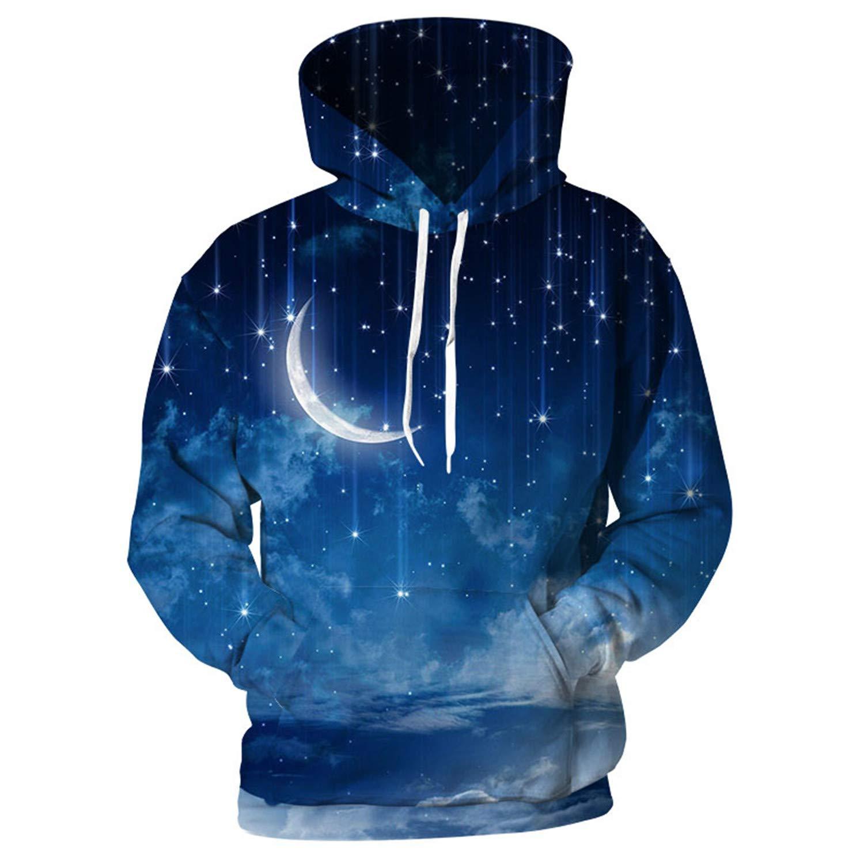 nayingying 3D Hoodies Hombres Sudaderas Con Capucha Galaxia Nebulosa 3D Streetwear at Amazon Mens Clothing store: