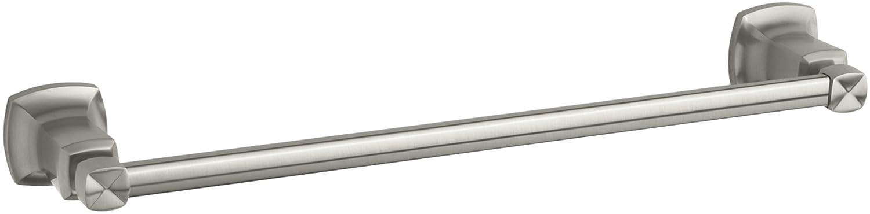 KOHLER K-16250-BN Margaux 18-Inch Towel Bar, Vibrant Brushed Nickel
