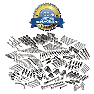 Large Mechanics Tool Set Kit 540 Piece Wrenches, Spanners, Sockets, Screwdrivers and More! SAE & Metric and All Backed By Our Full Lifetime Replacement Warranty!
