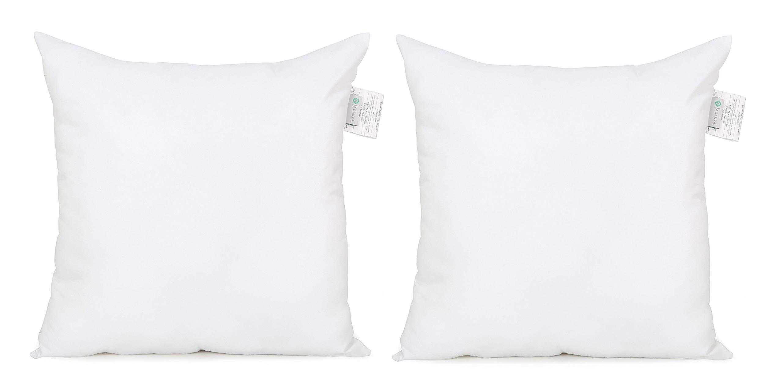 Acanva Soft Down Alternative Pillow Insert, 26 x 26