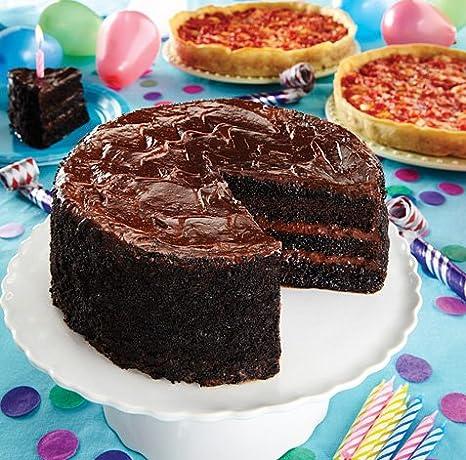 lezza Chocolate Tarta de cumpleaños con 2 Lou malnati s ...