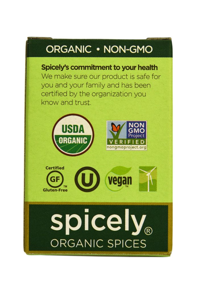 Spicely Organic Seasoning, Fish Grill and Broil Salt Free - Compact