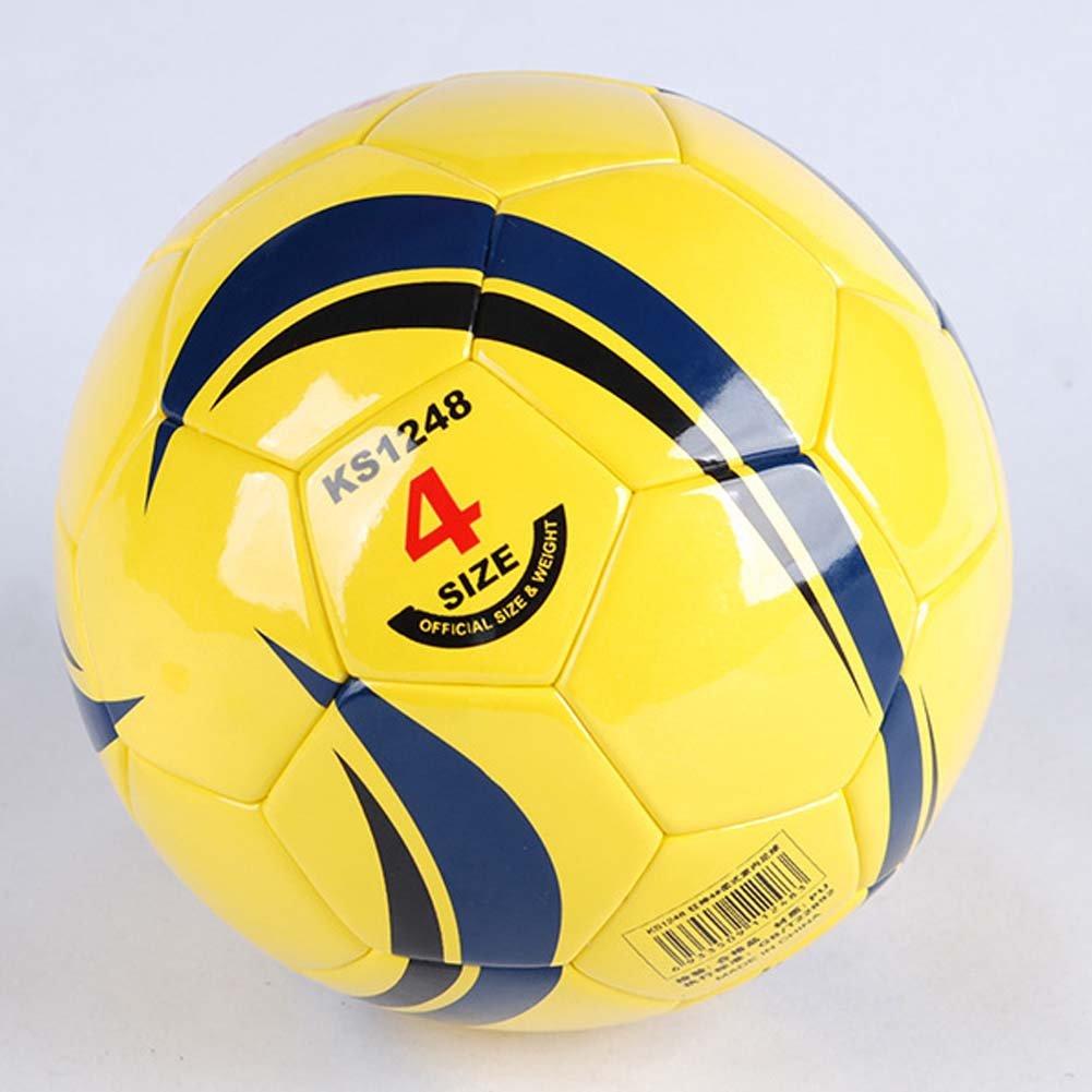 Kansaスポーツサッカーボールイエローサイズ4主と中央学校学生トレーニング機器サッカーボール B01N7YWEZ5
