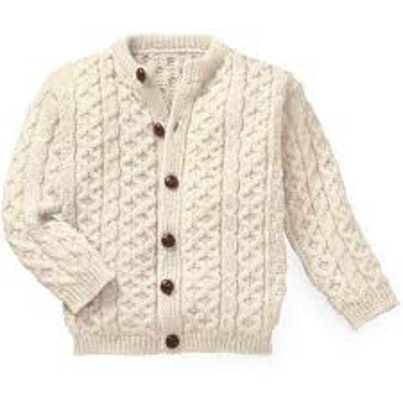 Made in the UK Kids Arran New Wool Cardigan Age 11-13
