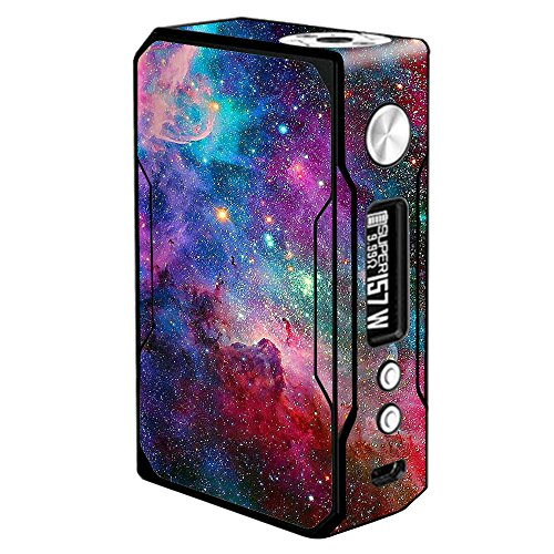 Skin Decal Vinyl Wrap for Voopoo Drag 157W TC Resin/Reg. Vape Mod stickers skins cover/ Colorful Space Gasses