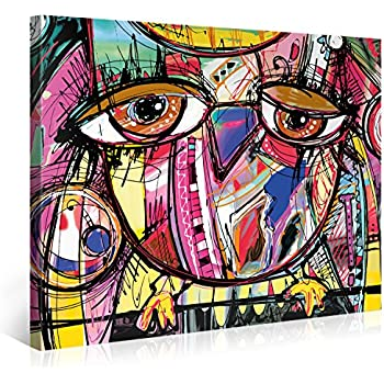 amazoncom decorarts abstract painting abstract wall