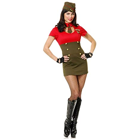 Pin Up Girl Costumes | Pin Up Costumes Charades Womens Wwii Army Babe Costume Set $39.99 AT vintagedancer.com