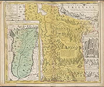 Amazoncom Historic 1768 Map Canton Uri sive Pagus Helvetiae