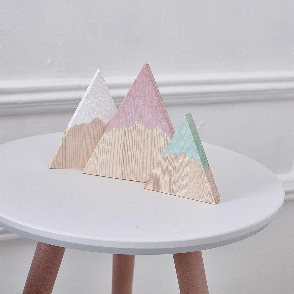 Steellwingsf 1# Madera Talla /única Juego de 3 Adornos de Madera para decoraci/ón de Habitaciones Infantiles