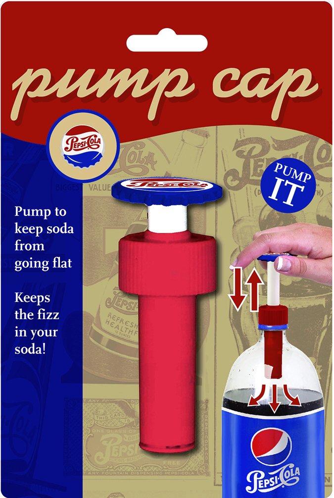 Jokari 18010P3 3 Count Pepsi Heritage Logo Fizz Keeper Soda Bottle Pump Cap, Red/White/Blue by Jokari (Image #3)