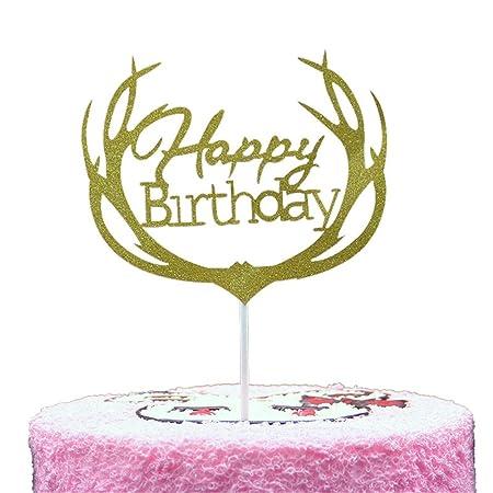 50 Paquetes de Feliz cumpleaños decoración de la Torta ...