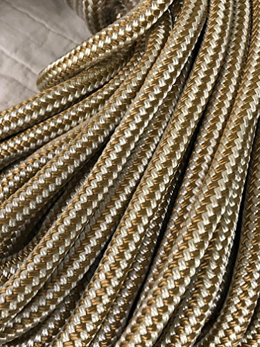 Gold Double Braid Nylon Rope 5/8 inch by 150 feet ()