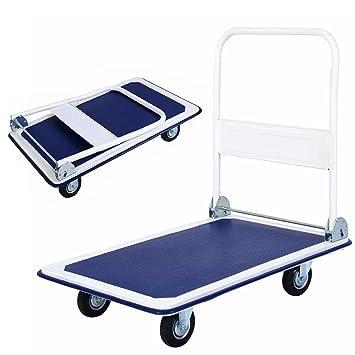 FCH plataforma camión carro de la mano camión plegable Mano Dolly carrito de almacenamiento, ideal para el hogar, Auto, oficina uso (660lbs): Amazon.es: ...