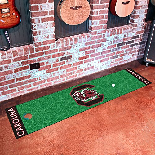 - FANMATS NCAA University of South Carolina Gamecocks Nylon Face Putting Green Mat
