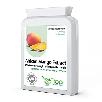 Pure African Mango 18000mg 60 Capsules - SUPER STRENGTH Extract to Support Weight Loss, Slimming