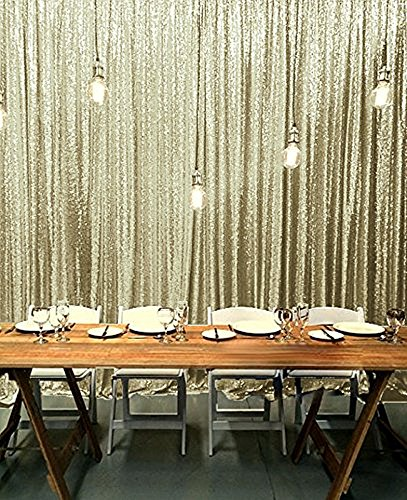 B COOL Photography Backdrop 8ftX10ft Matte Gold Curtain Standbridal Shower