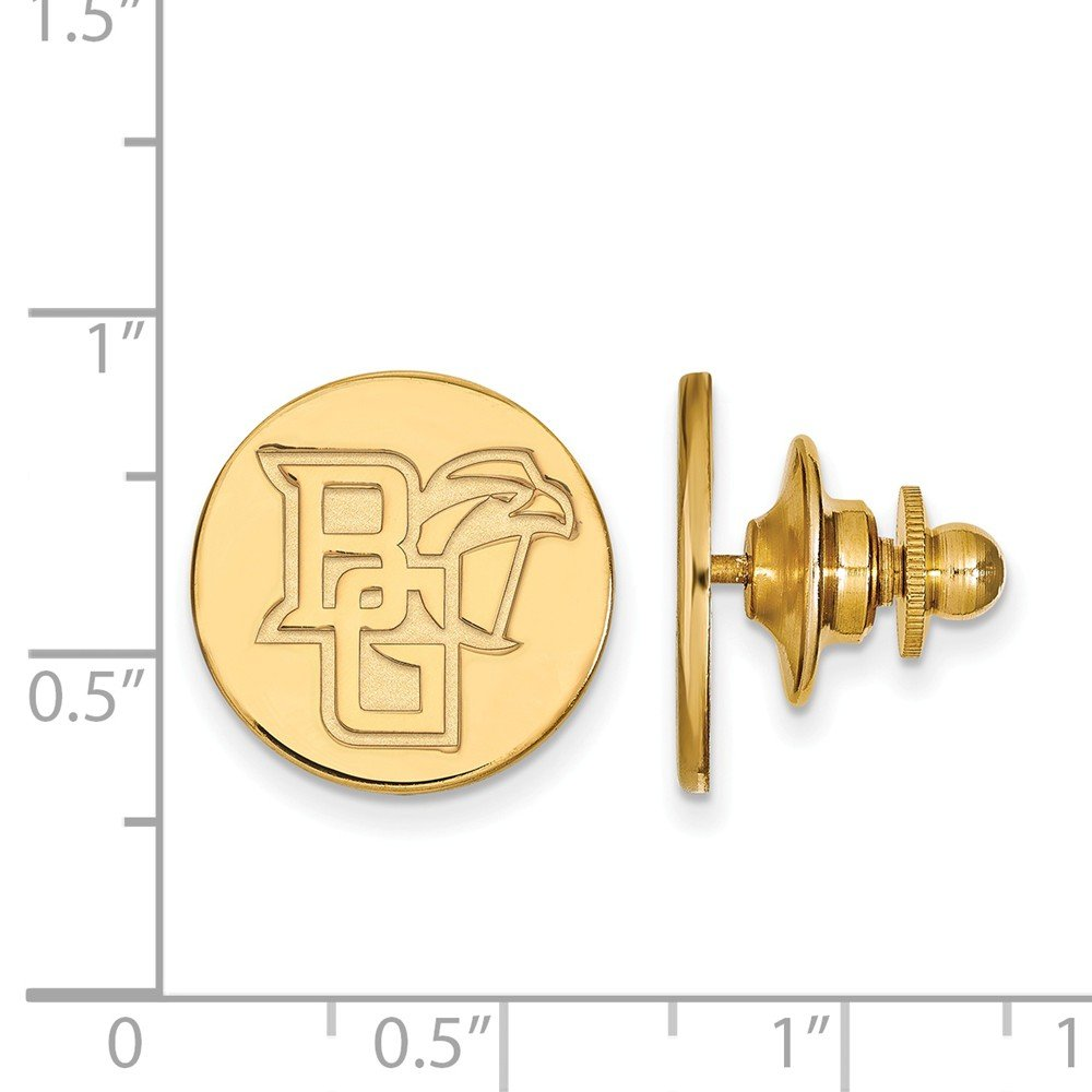 Jewel Tie 14k Yellow Gold Bowling Green State University Lapel Pin 15mm x 15mm