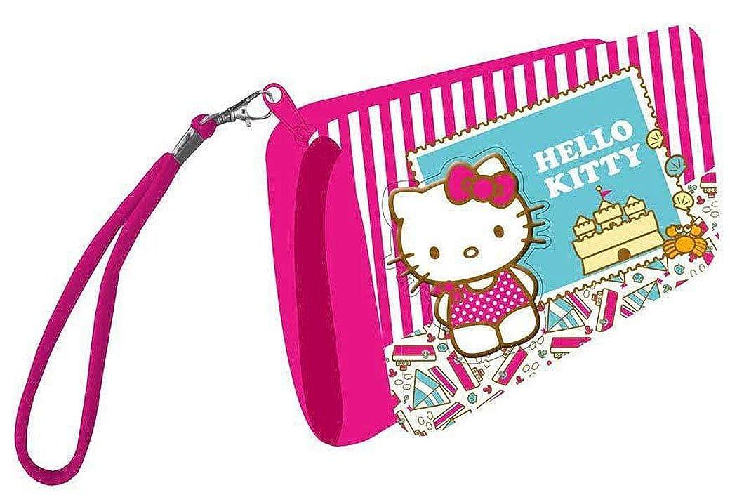Portefeuille enfant fille Hello kitty Ray/é blanc//rose fonc/é 14cm