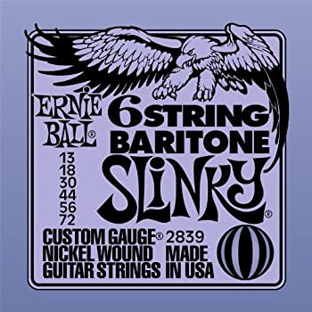 Ernie Ball Baritone Guitar Nickel Wound Set, .013 -.072