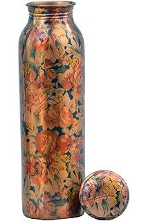 Mr Enterprises 100/% Pure Copper Printed jointless Bottle with Antic Print in Mr Enerprises