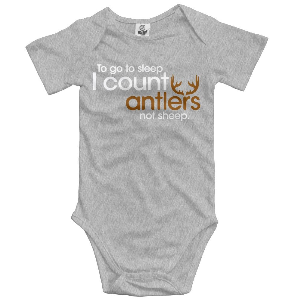 Midbeauty Count Antlers to Sleep Summer Baby Sleeveless Romper One-Piece Bodysuit Jumpsuit Outfits