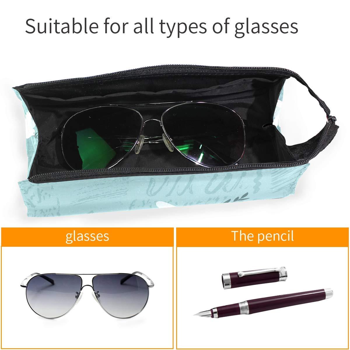 My Little Nest Eyeglass Sunglasses Holder Pouch Bag International Day Of Peace White Dove Multi Function Zipper Pen Case Pencil Bag Organizer