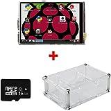 OSOYOO(オソヨー) Raspberry Pi 専用 LCD タッチ スクリーン 3.5インチ ディスプレイ + ケース + 16GB MicroSDカード(ドライバーインストール済み)キット