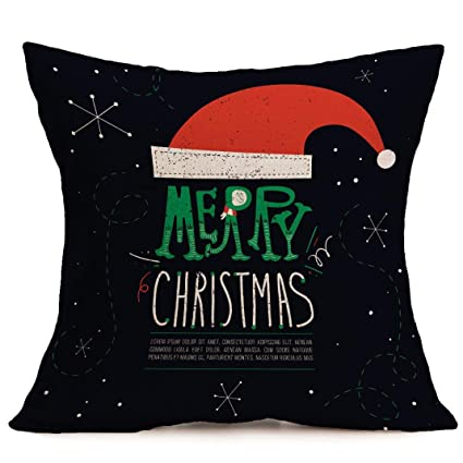 Amazoncom Vovomay Merry Christmas Pillow Case Gifts Snowman Xmas