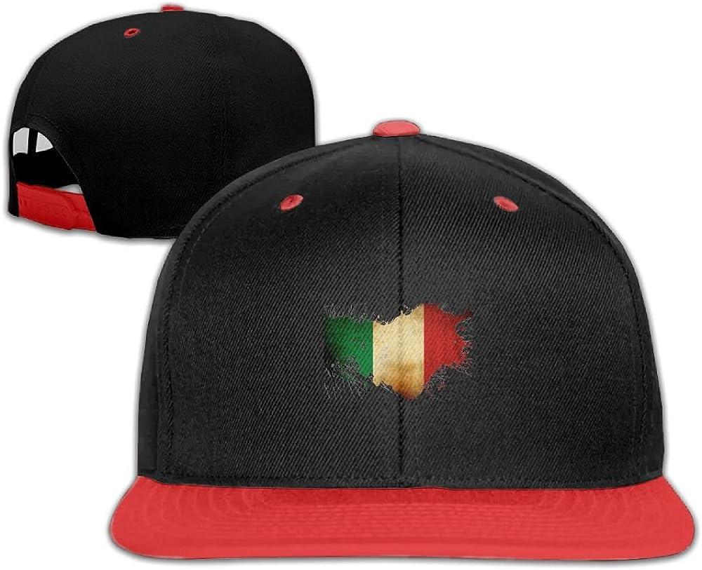 GUOFULIN Deep Vintage Italy Flag Adjustable Snapback Kids Hip Hop Hat Baseball Cap