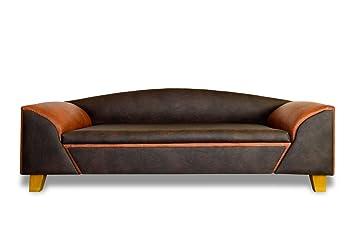 Perro sofá cama para perros Madrid Deluxe piel de búfalo Café XXL Handmade nuevo cama de lujo: Amazon.es: Productos para mascotas