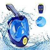 VERLIFE Snorkel Mask Full Face 180° Panoramic View with Anti-Fog Anti-Leak Design, 2018 Newest Generation Ultra-Wide Upgraded Free Breathing GoPro Compatible Snorkeling Mask for Adults and Kids
